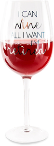 Retired by Happy Occasions - 16 oz. Crystal Wine Glass