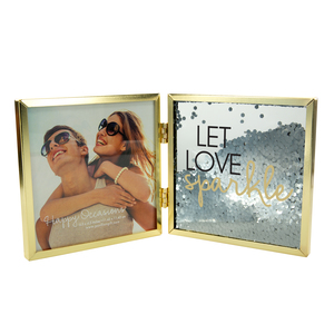 "Love by Happy Occasions - 4.75"" Hinged Sentiment Frame"