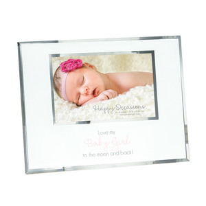 "Baby Girl by Happy Occasions - 9.25"" x 7.25"" Frame (Holds 6"" x 4"" Photo)"