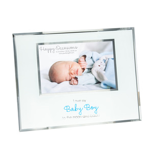 "Baby Boy by Happy Occasions - 9.25"" x 7.25"" Frame (Holds 6"" x 4"" Photo)"