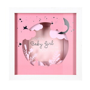 "Baby Girl by Happy Occasions - 7.75"" Shadow Box Frame (Holds 4"" x 4"" Photo)"