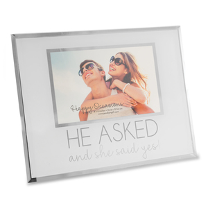 "He Asked by Happy Occasions - 9.25"" x 7.25"" Frame (Holds 6"" x 4"" Photo)"