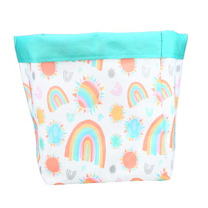 "Sunshine and Rainbows by Sunshine & Rainbows - 7.25"" x 9"" Canvas Basket"