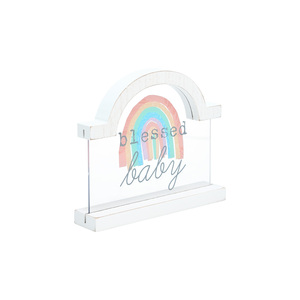 "Blessed Baby by Sunshine & Rainbows - 5"" Self Standing Plaque"
