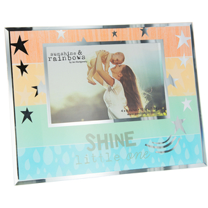 "Shine Little One by Sunshine & Rainbows - 9.25"" x 7.25"" Frame (Holds 6"" x 4"" Photo)"