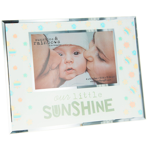 "Our Little Sunshine by Sunshine & Rainbows - 9.25"" x 7.25"" Frame (Holds 6"" x 4"" Photo)"