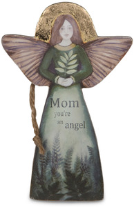 "Mom by Sherry Cook Studio - 5.5"" Angel  Ornament"