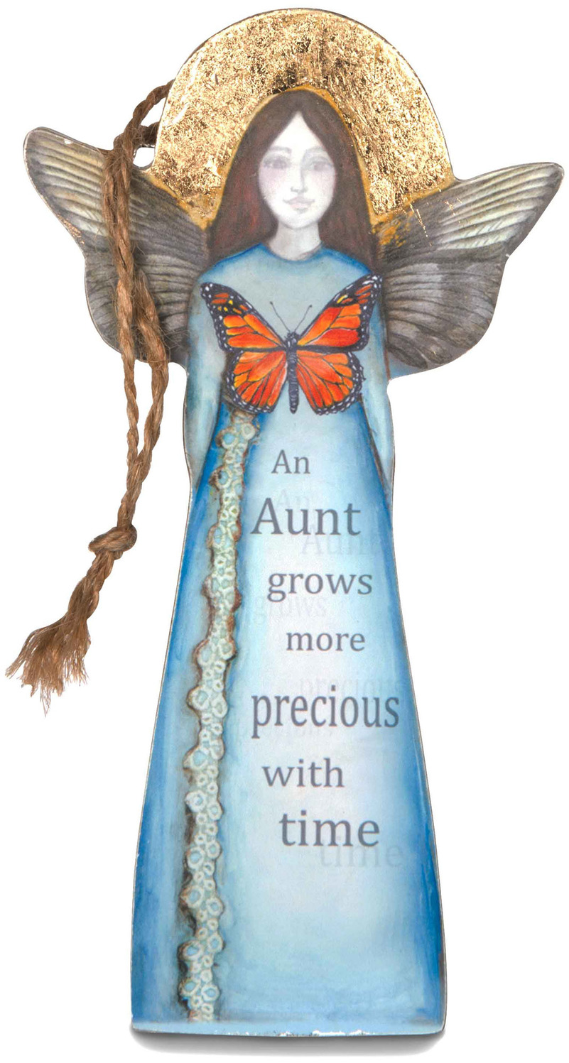 "Aunt by Sherry Cook Studio - Aunt - 5.25"" Butterfly Angel Ornament"