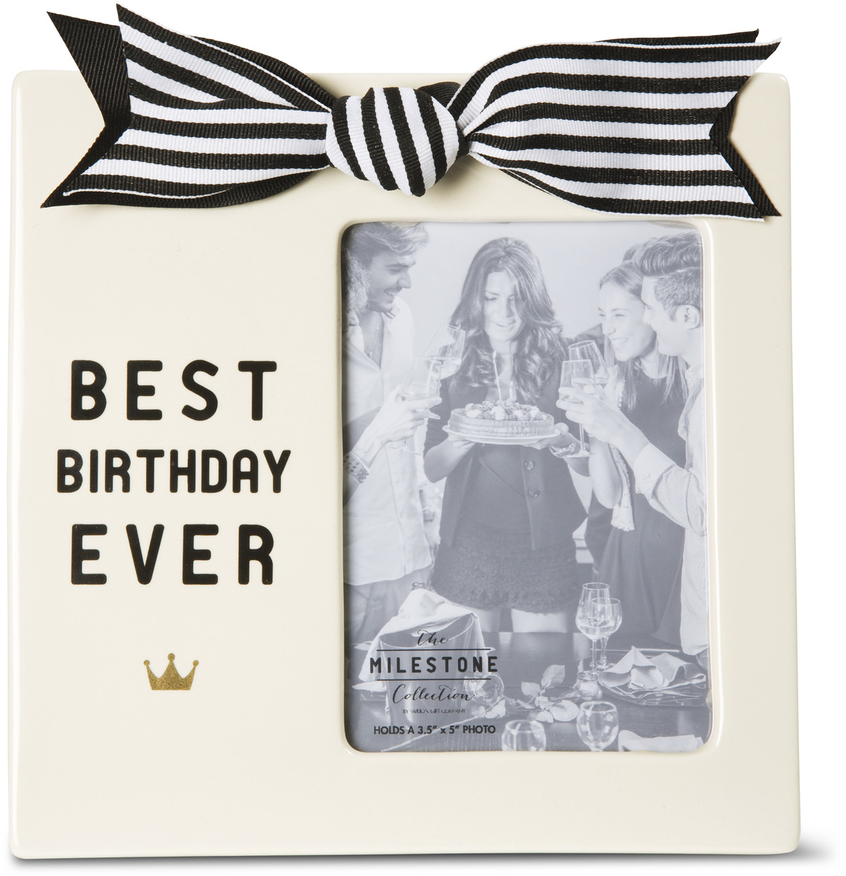 "Best Birthday Ever by The Milestone Collection - Best Birthday Ever - 7"" x 7"" Frame (Holds 3.5"" x 5"" Photo)"