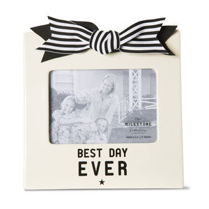 "Best Day Ever by The Milestone Collection - 7"" x 7"" Frame (Holds 3.5"" x 5"" Photo)"