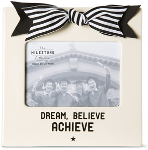 "Graduation by The Milestone Collection - 7"" x 7"" Frame (Holds 3.5"" x 5"" Photo)"