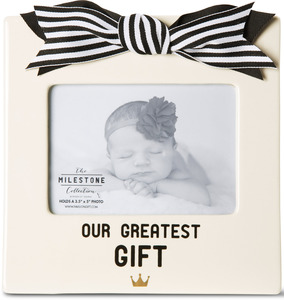 "Our Greatest Gift by The Milestone Collection - 7"" x 7"" Frame (Holds 3.5"" x 5"" Photo)"