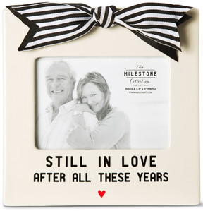 "Anniversary by The Milestone Collection - 7"" x 7"" Frame (Holds 3.5"" x 5"" Photo)"