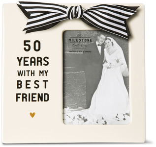 "50th Anniversary by The Milestone Collection - 7"" x 7"" Frame (3.5"" x 5"") Photo"