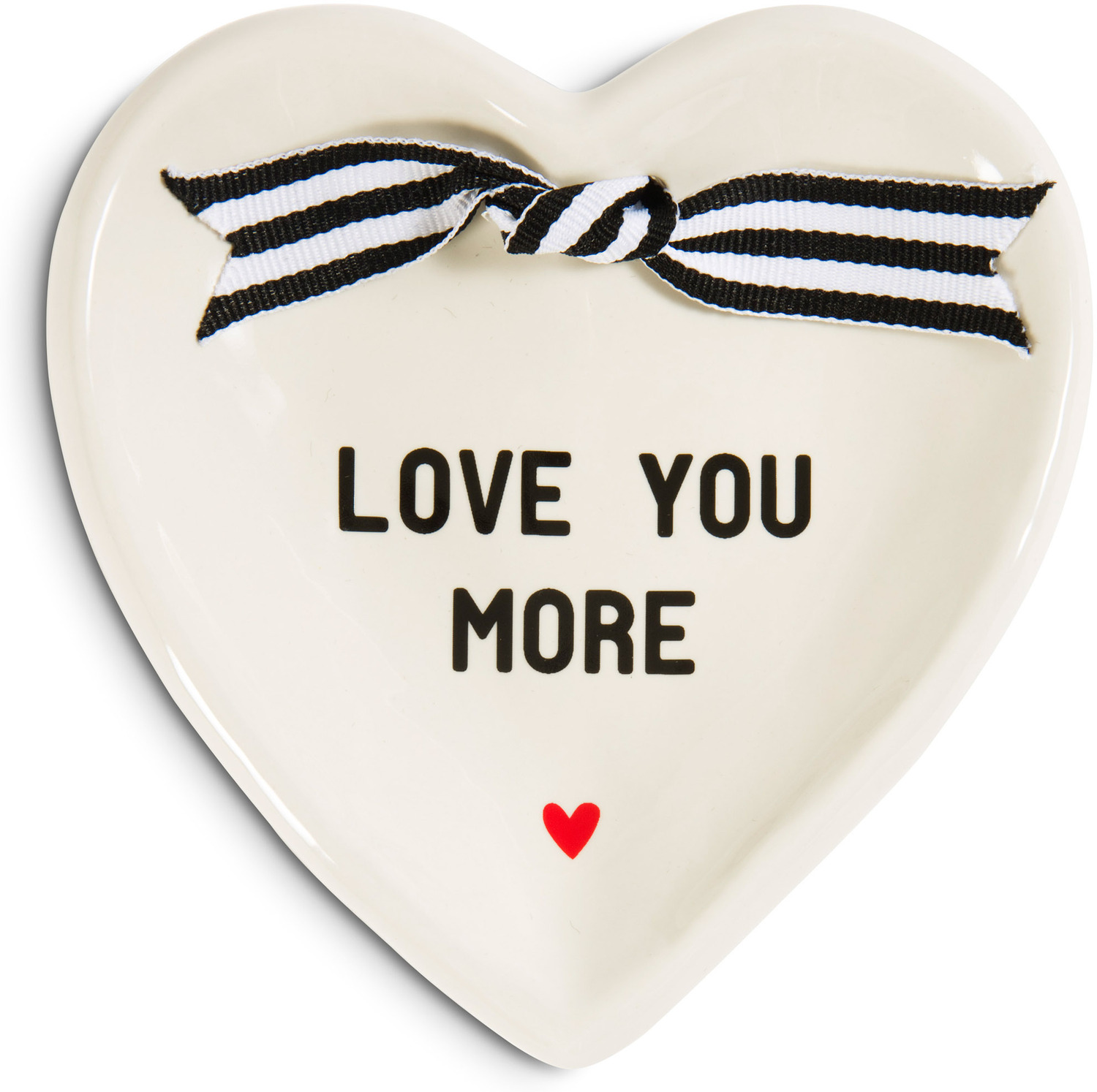 Love You More by The Milestone Collection - Small Heart-Shaped Keepsake Dish