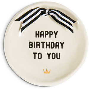 "Happy Birthday by The Milestone Collection - 4.25"" Diameter Round Keepsake Dish"