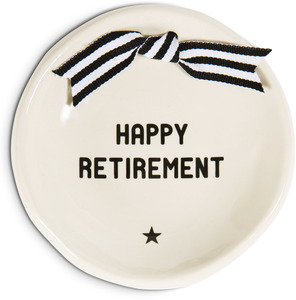 "Retirement by The Milestone Collection - 4.25"" Diameter Round Keepsake Dish"