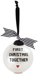 "First Christmas Together by The Milestone Collection - 4"" Glass Ornament"