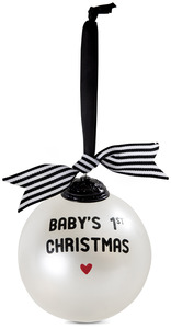"Baby's 1st Christmas by The Milestone Collection - 4"" Glass Ornament"