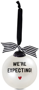 "We're Expecting by The Milestone Collection - 4"" Glass Ornament"