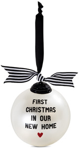 "New Home by The Milestone Collection - 4"" Glass Ornament"