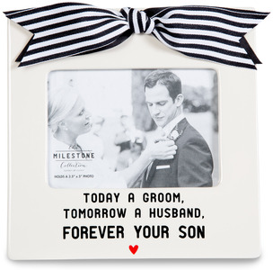 "Forever Your Son by The Milestone Collection - 7"" x 7"" Frame (3.5"" x 5"") Photo"