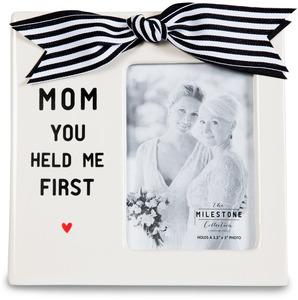 "Mom by The Milestone Collection - 7"" x 7"" Frame (3.5"" x 5"") Photo"