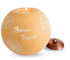 "Friend by Cinnamon Swirl - 5"" Round Candle Holder"
