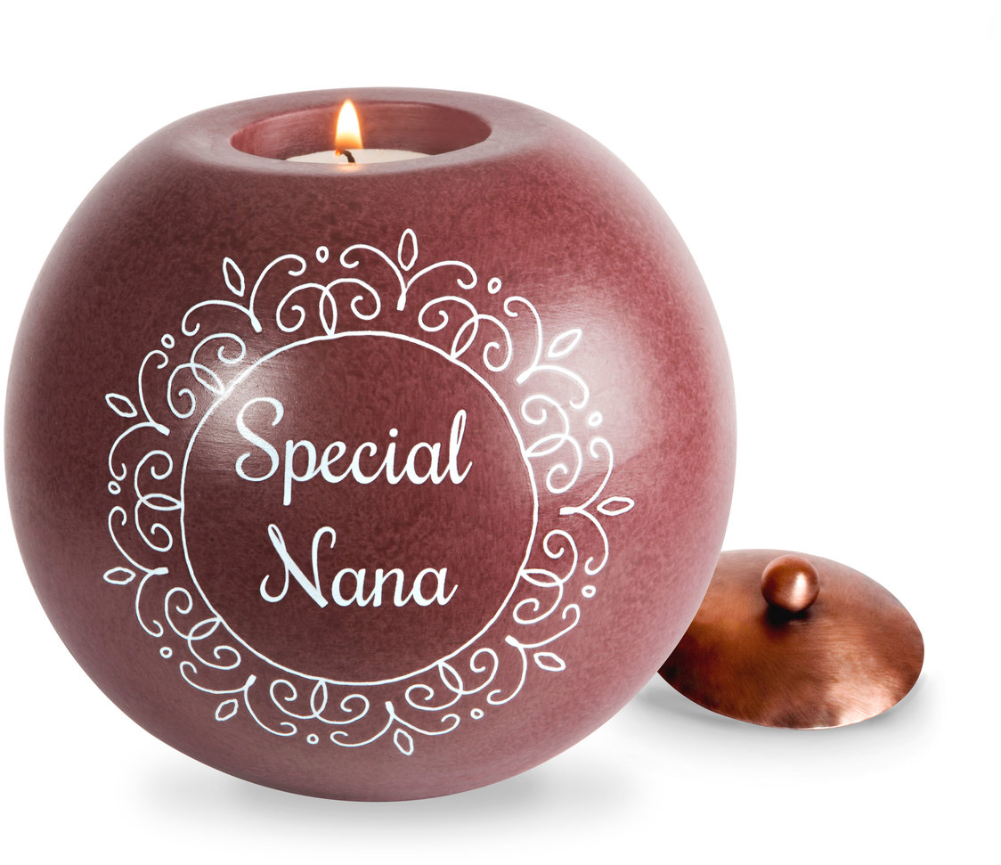 "Nana by Cinnamon Swirl - Nana - 5"" Round Candle Holder"