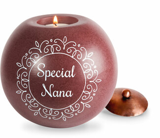 "Nana by Cinnamon Swirl - 5"" Round Candle Holder"