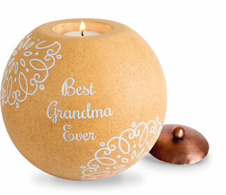 "Grandma by Cinnamon Swirl - 5"" Round Candle Holder"