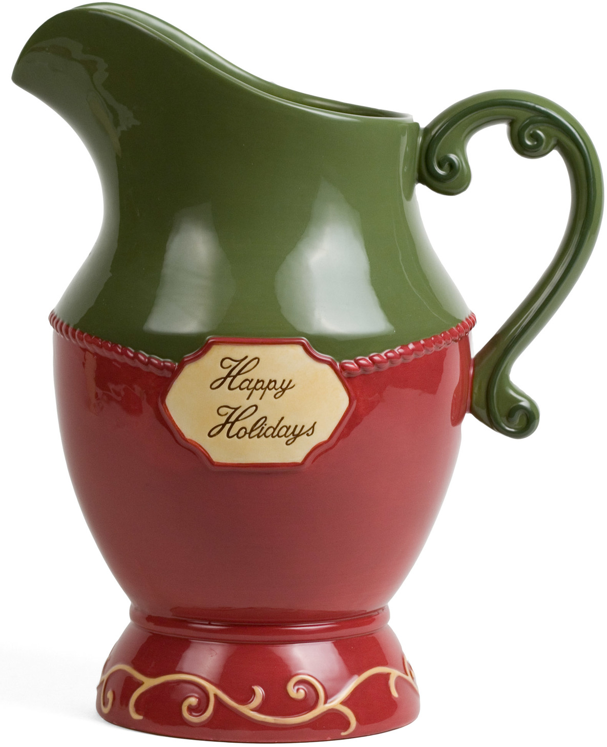 "Happy Holidays by Crimson Manor - Happy Holidays - 11"" Pitcher"