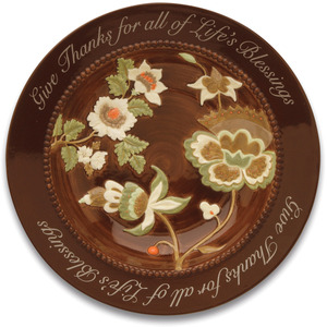 "Life's Blessings by Shared Blessings - 8.1"" x 1.4"" Floral Bowl Set of 2"