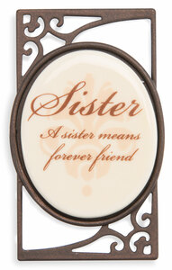 "Sister (Set of 6) by Simply Stated - 1.5""Wx2.5""H Magnet w/Scroll"