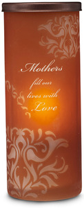 "Mother by Simply Stated - 6"" Amber Glow Candle Holder"