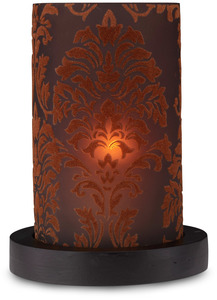 "Chocolate Candle Holder by Simply Stated - 6.5"" Cylinder w/base"