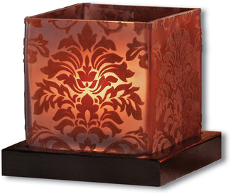 "Chocolate Tea Light Holder by Simply Stated - 4.5"" Square w/base"
