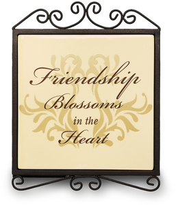 "Friendship by Simply Stated - 5""x6.5""Plaque w/Metal Scroll"