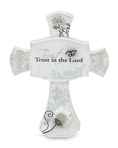"Trust in the Lord by Mark My Words - 3.5"" Self Standing Cross"