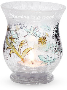 "Nurse by Mark My Words - 3.5"" Hurricane Candle Holder"