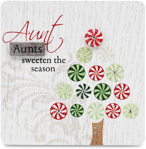 "Aunt by Mark My Words - 3"" x 3"" Self Standing Plaque"