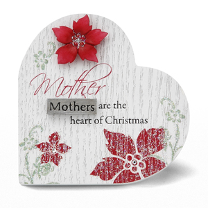 "Mother by Mark My Words - 3"" x 3"" Heart Plaque"