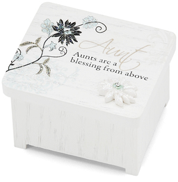 "Aunt by Mark My Words - 2"" x 1.75"" Keepsake Box"