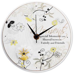 "Special Moments by Mark My Words - 6"" Self-Standing Round Clock"