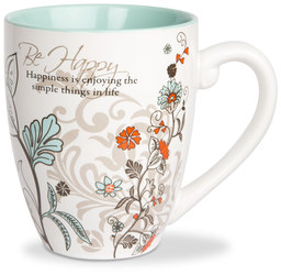 Be Happy by Mark My Words - 20oz Mug