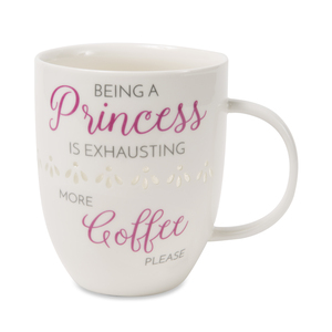Princess by My Kinda Girl - 24 oz Pierced Porcelain Cup