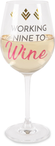 Wine by My Kinda Girl - 12 oz Crystal Wine Glass