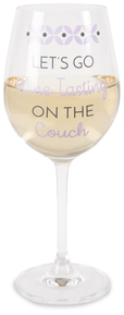 Wine Tasting by My Kinda Girl - 12 oz Crystal Wine Glass