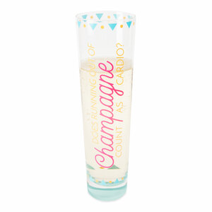 Running out of Champagne by My Kinda Girl - 8 oz. Stemless Champagne Flute