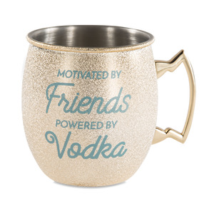 Friends and Vodka by My Kinda Girl - 20 oz Stainless Steel Moscow Mule